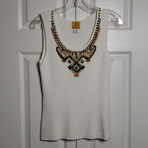 Ruby Rd. Blouse with Embellishments | Size PL